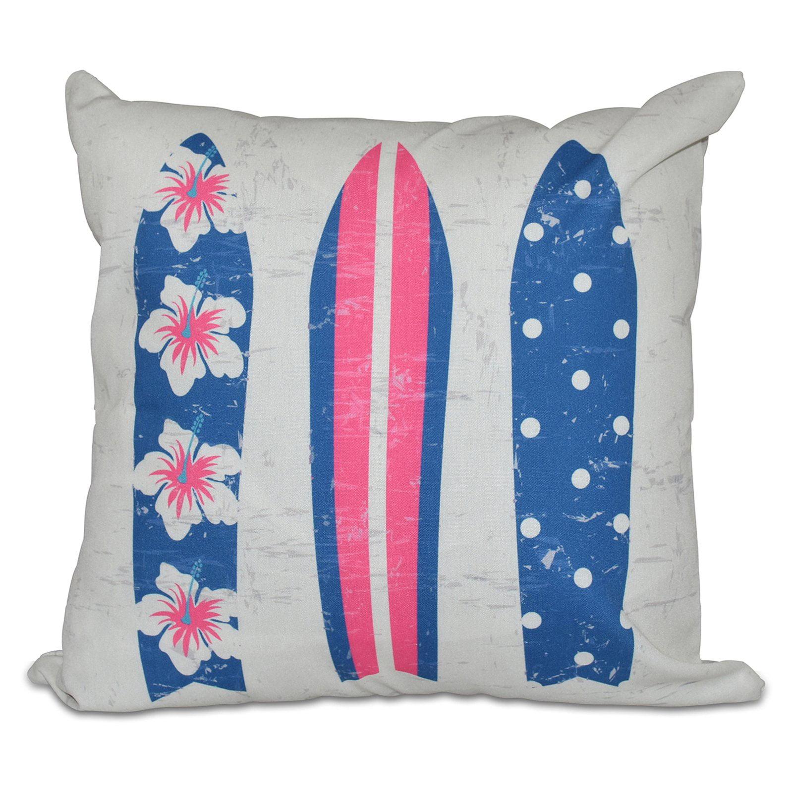 E by Design Hang Ten Triple Surf Decorative Pillow