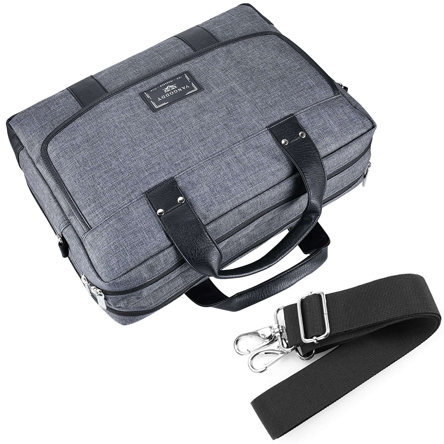 Alienware M17 Inspiron WGS Water Resistant Laptop Shoulder Bag Briefcase Crossbody Tote for Dell Precision Vostro G7 15 Latitude and Wireless Mouse with Headphone