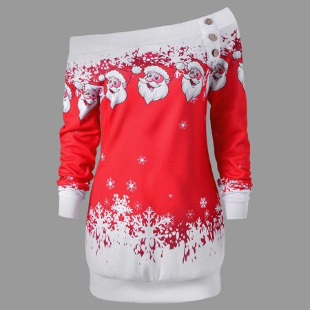 e3e399bd9be4 UKAP - Asian size Christmas Fashion Women Off Shoulder Santa Claus ...