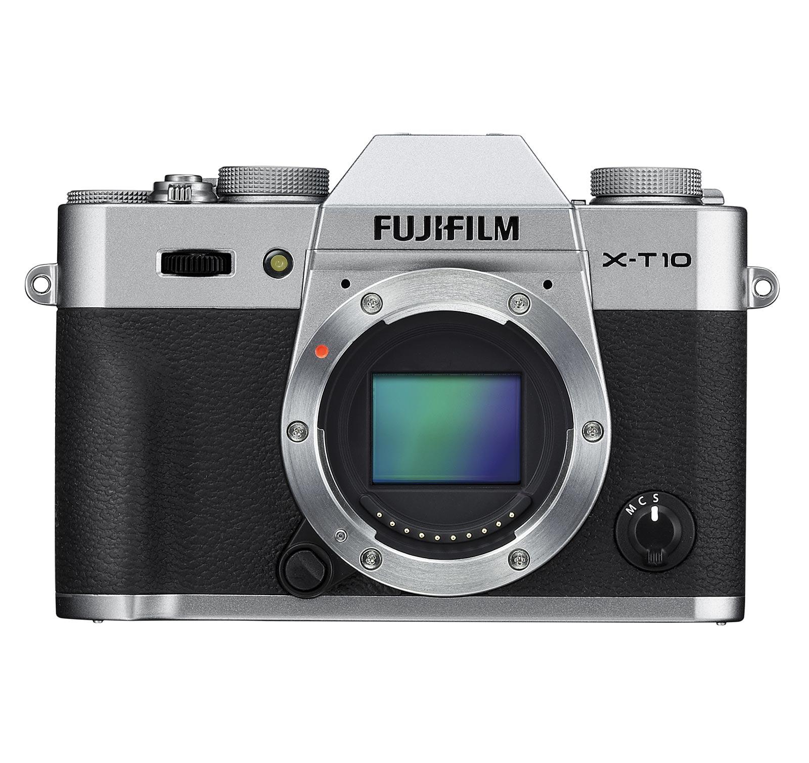 Fujifilm 16470817 X-T10 Mirrorless Camera (Body Only) Silver