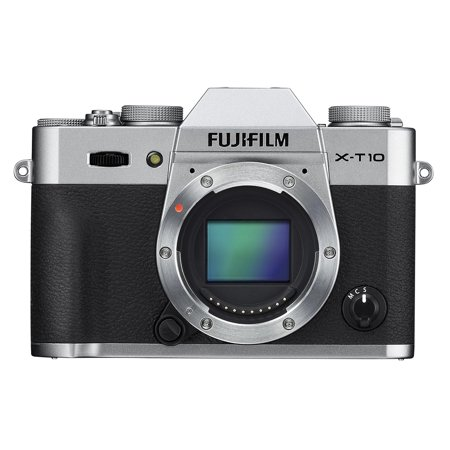 Fujifilm 16470817 X-T10 Mirrorless Camera (Body Only) Silver
