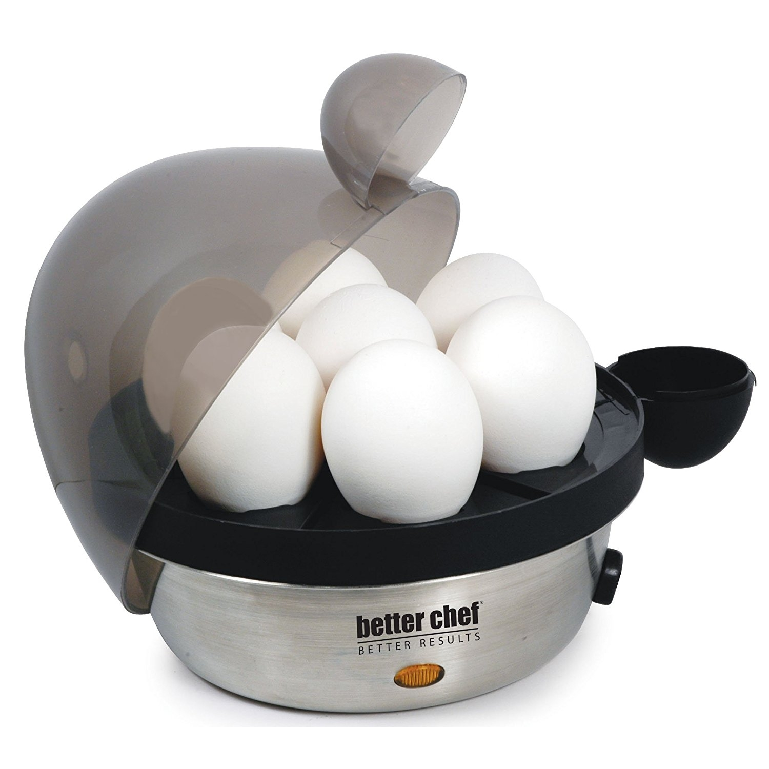 Egg Cooker Stainless Steel, Electric Hard Boiled Rapid Poached Egg Cooker