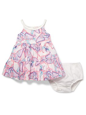 9f91732b9 Product Image Baby Girls Sleeveless High-Low Butterfly Printed Ruffle Dress  and Bloomer Set (Baby and. Product TitleThe Children's PlaceBaby ...