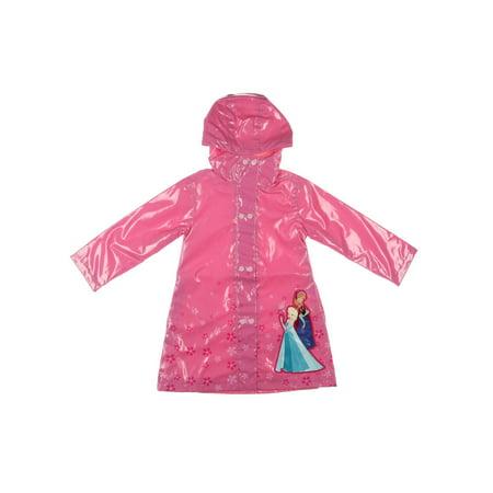 Disney Frozen Floral Print Long Sleeves Raincoat