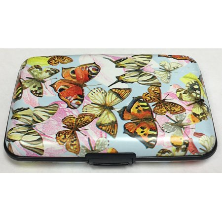 - Colored Butterflies RFID Secure Data Theft Protection Credit Card Armored Wallet