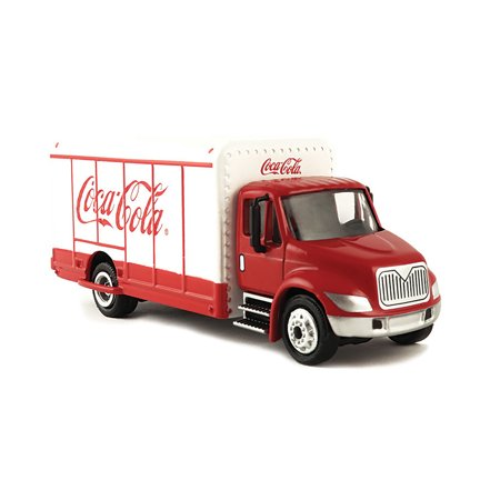 Coca Cola Delivery Truck (Coca-Cola 1/87 Scale Beverage Delivery Diecast Truck with Metal Body and Chassis (Collectible Toy)