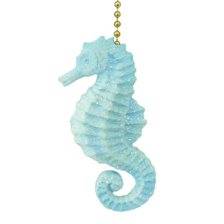 Sparkling Blue Seahorse Ceiling Fan Pull Decorative Light