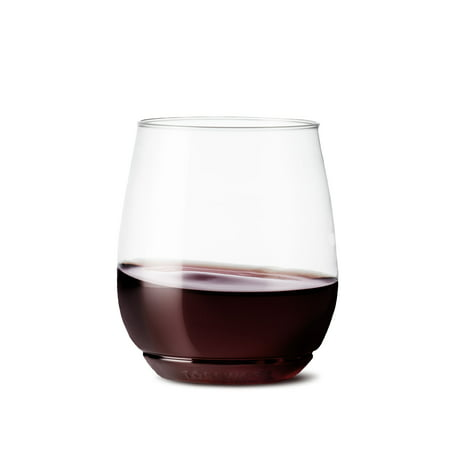 Plastic Wine Glasses Bulk Cheap (TOSSWARE Clear Plastic 14 oz Vino Wine Glass, Set of)