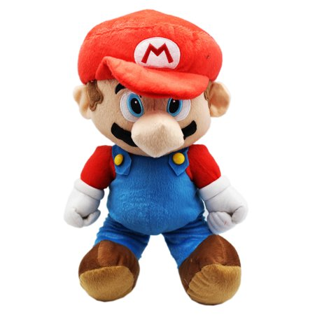 Large Tom - Super Mario Bros. Classic Mario Large Plush Toy With Secret Zipper Pocket (17in)