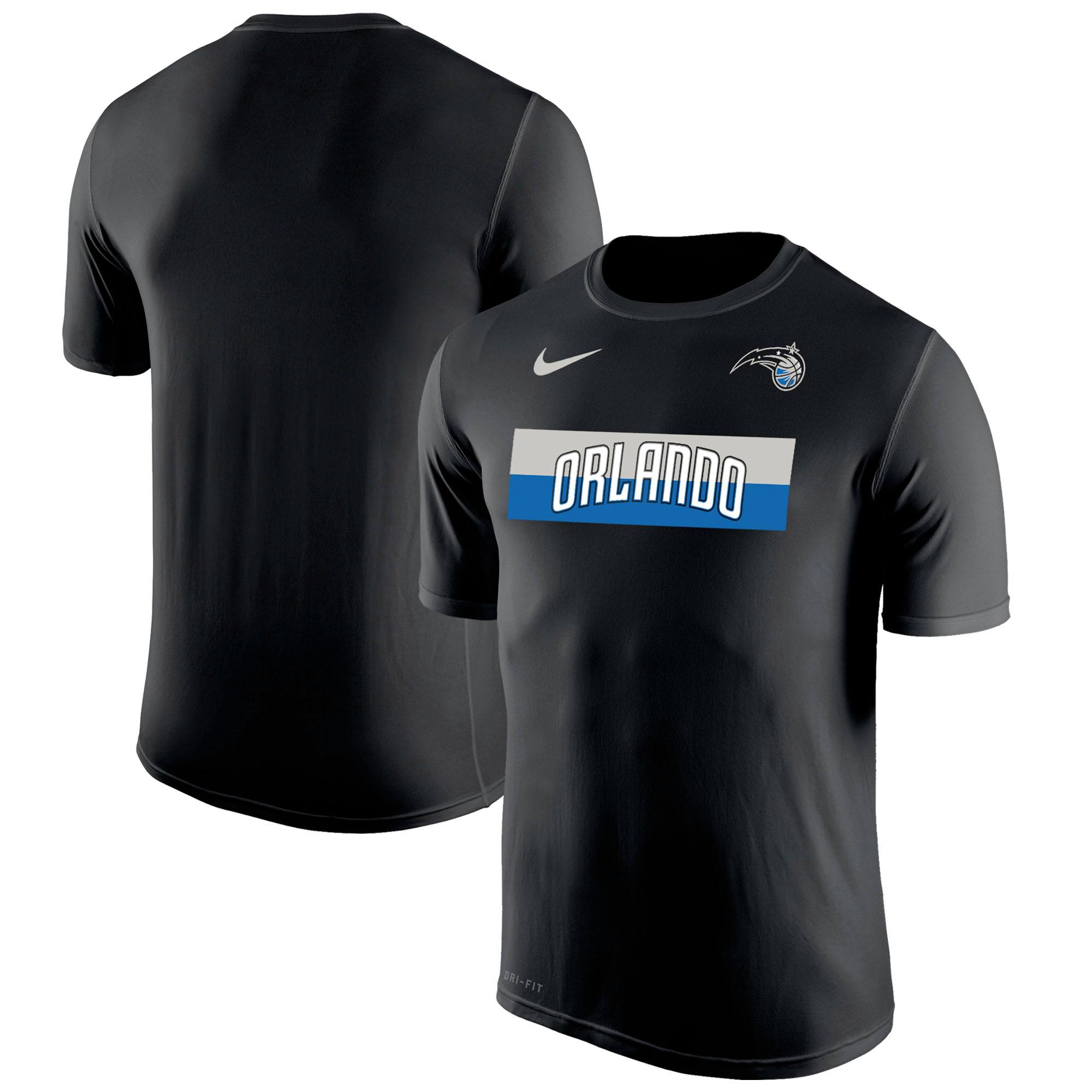 Orlando Magic Nike Wordmark Logo Legend Performance T-Shirt - Black