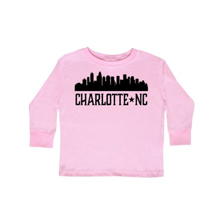 Charlotte North Carolina Skyline NC City Toddler Long Sleeve T-Shirt