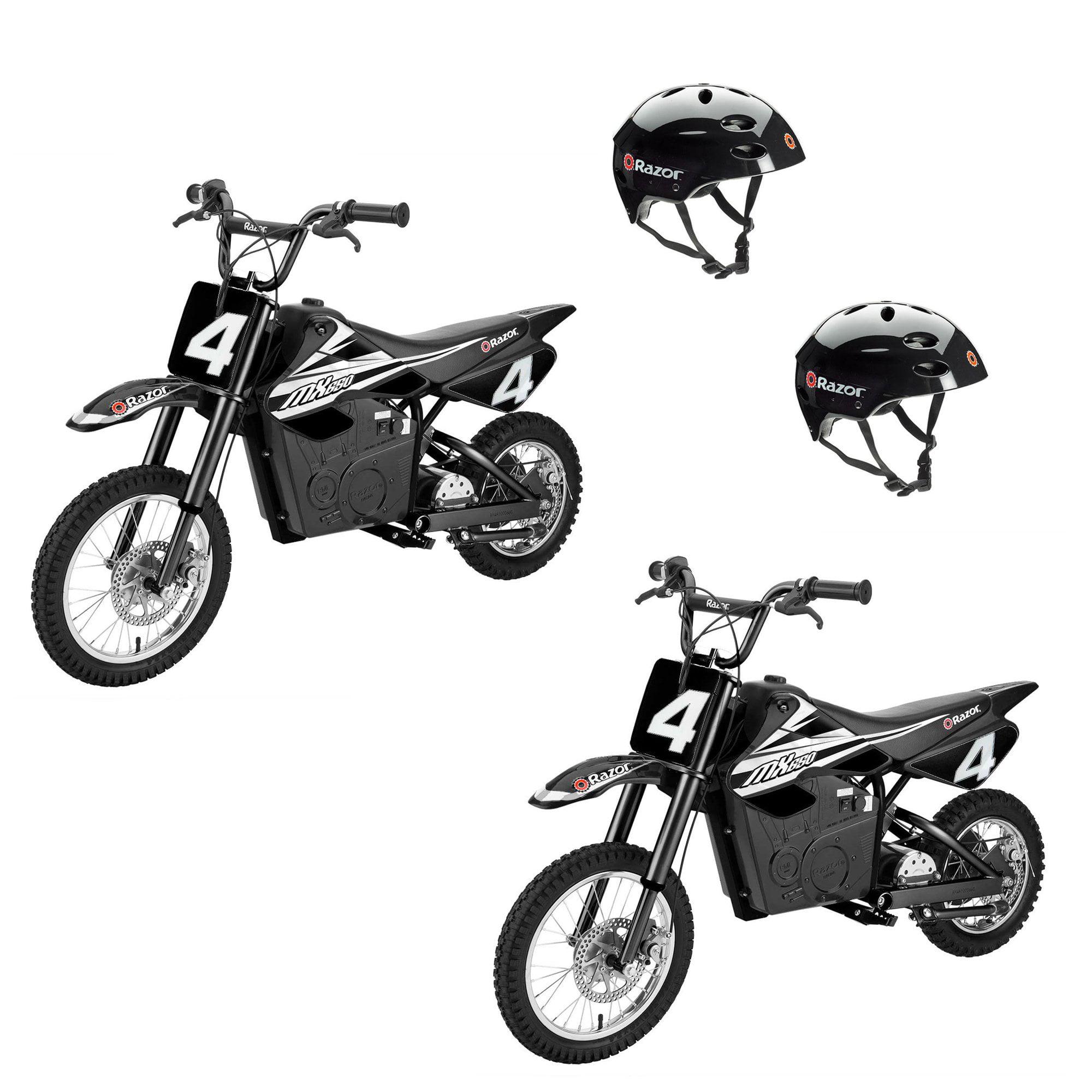 Razor MX650 Electric Dirt Rocket Motor Bikes for Teens 16+ (2 Pack) + Helmets