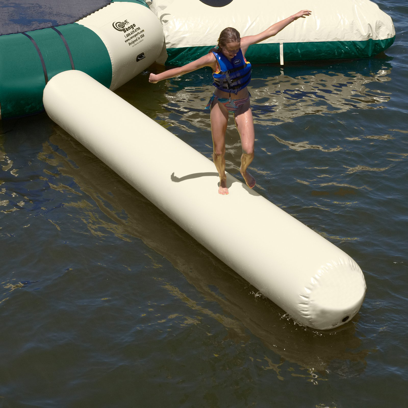 RAVE Sports Northwoods Small Aqua Log Water Trampoline Attachment by Rave Sports