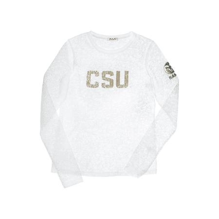 Colorado State University Long Sleeve Burnout Crew- Rams Colorado State University Starter