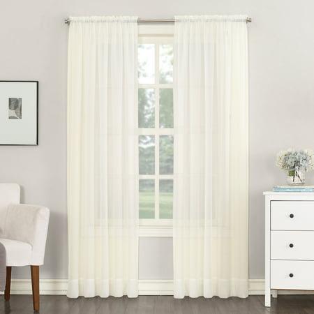Sheer Rod Pocket Single Curtain Panel – Great Deal