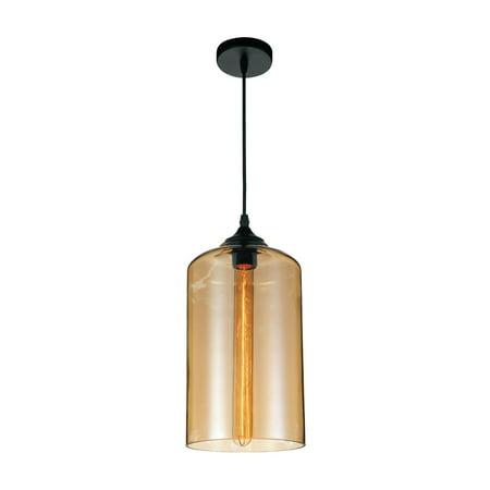 CWI Lighting Glass 1 Light 5553P7 Pendant