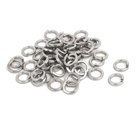 Stainless Split Lock Washer - M8 304 Stainless Steel Split Lock Washer Silver Tone 50pcs