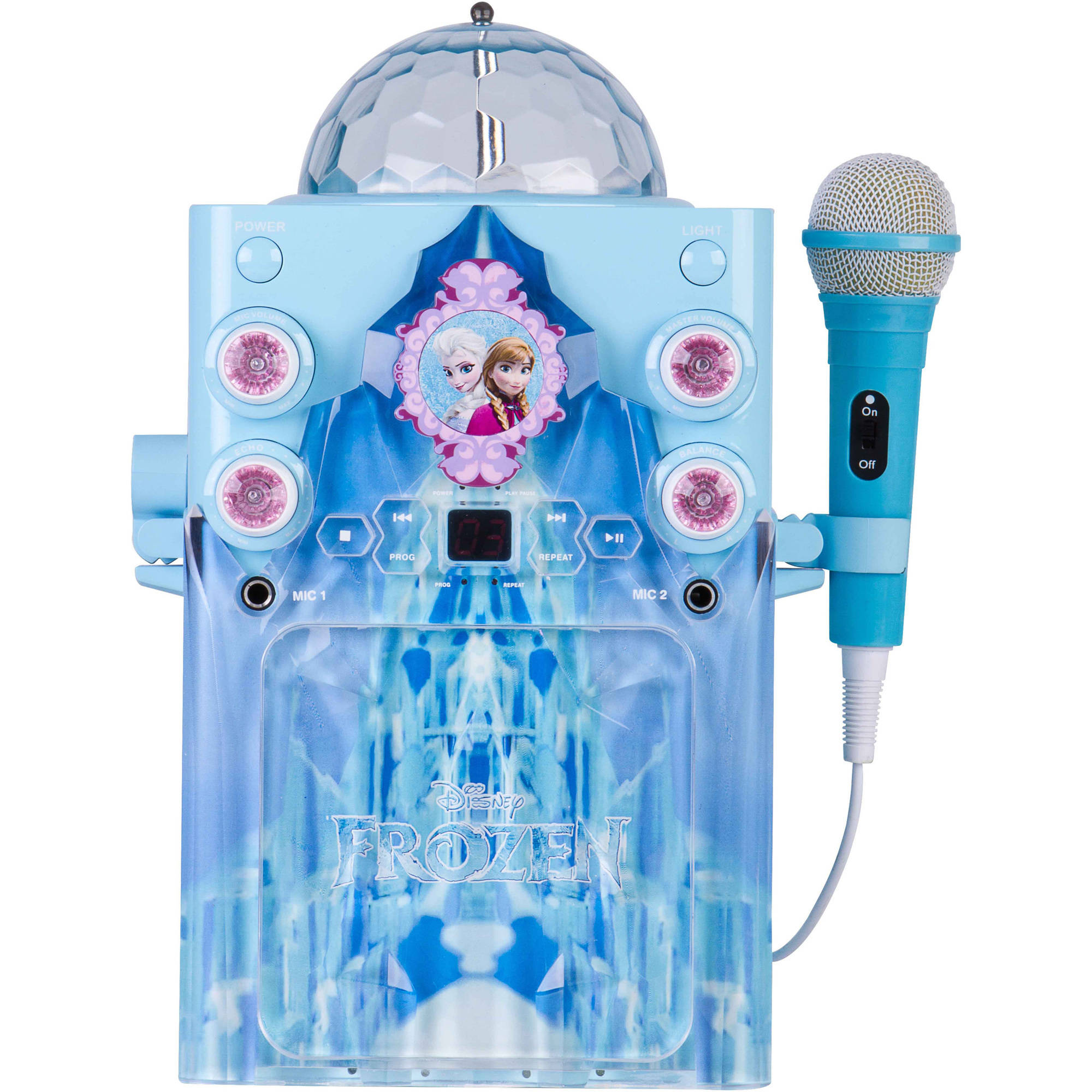 Disney Frozen Castle with Disco Globe Karaoke by Sakar International