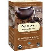 Numi Organic Tea, Chinese Breakfast, Tea Bags, 18 Ct