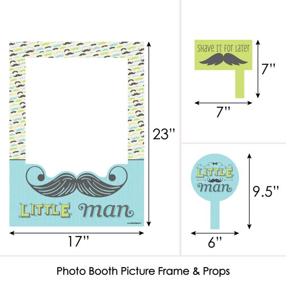 Dashing Little Man Birthday Or Baby Shower Selfie Photo Booth