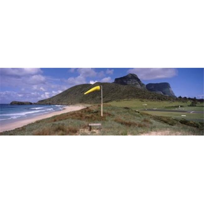 Lord Howe Island Beaches: Panoramic Images PPI128947L Airstrip On The Beach Blinky