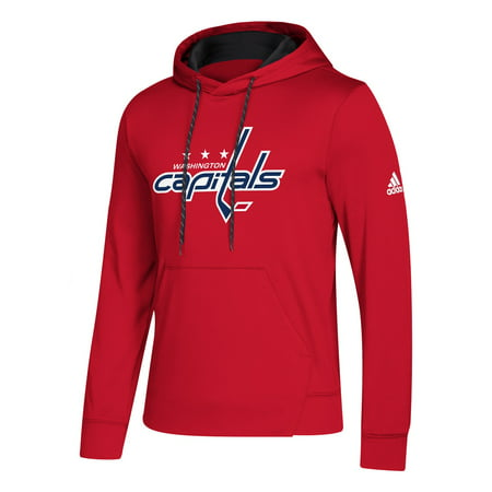 Washington Capitals Red Adidas 2018 19 Synthetic Hooded Sweatshirt Hoody (3X)