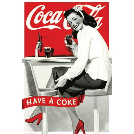 Coca Cola Vintage Ad Style Poster, 24
