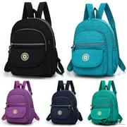 "Spencer Women's Nylon Mini Travel Tiny Backpack Adjustable Straps Shoulder Rucksack for Hiking Outdoor ""Blue"""