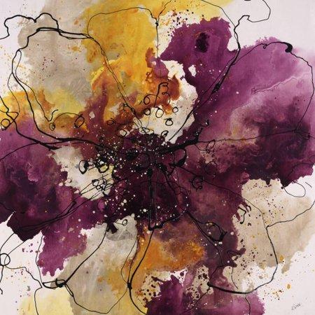Alluring Blossom I Transitional Abstract Flower Floral Art Print Wall Art By Rikki Drotar