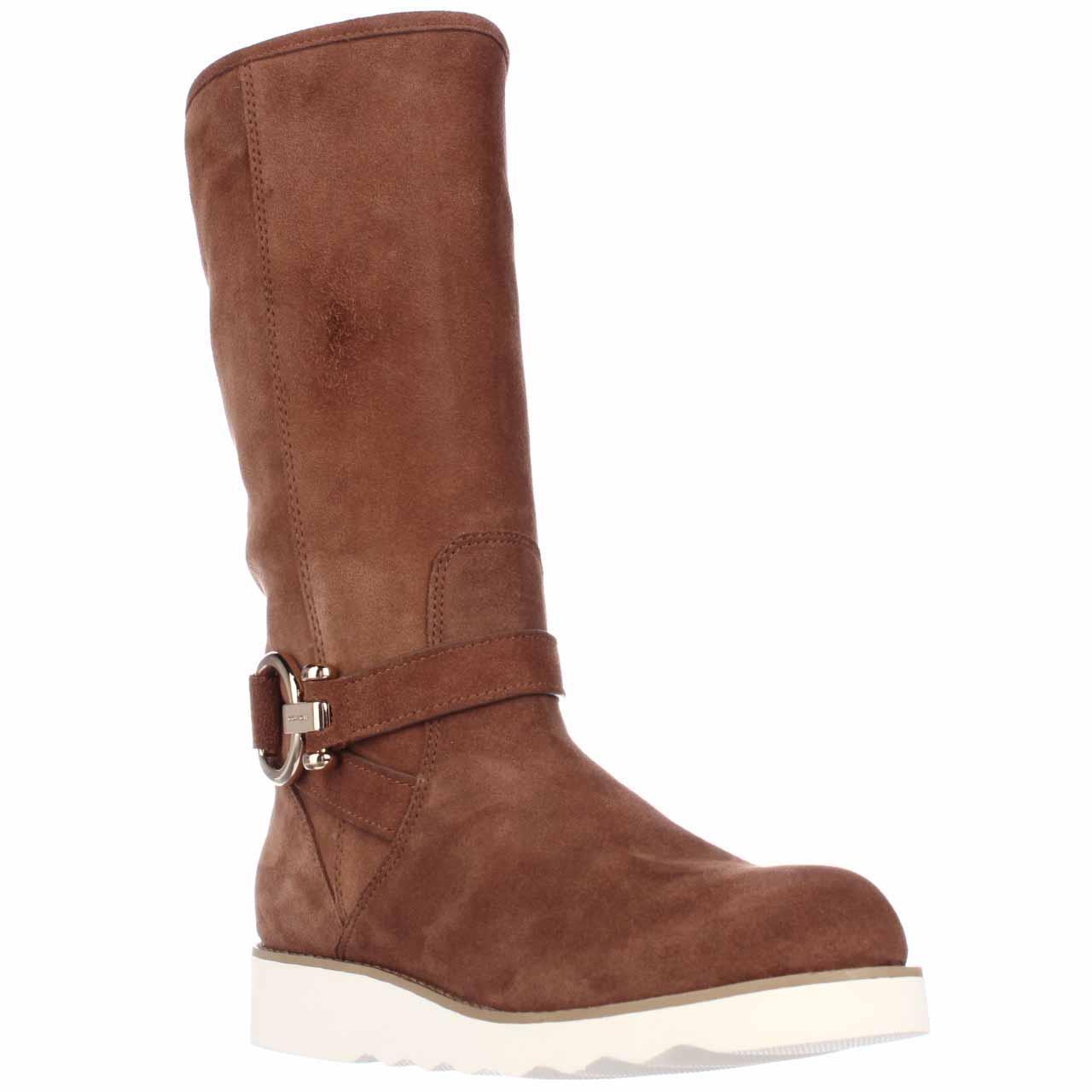 Womens Coach Virtue Flat Winter Boots, Saddle