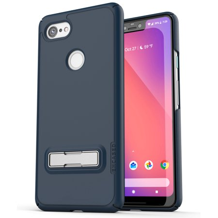 - Encased Slim Case for Pixel 3 XL Case with Kickstand, Ultra Thin Protective Grip Cover with Metal Stand (Slimline) Navy