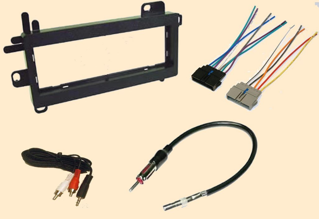 jeep wrangler 1997 1998 1999 2000 2001 2002 stereo wiring harness, dash install kit faceplate, with fm antenna adaptor , by carxtc ship from us 2001 jeep cherokee radio wiring diagram carxtc combo fits jeep wrangler 1997