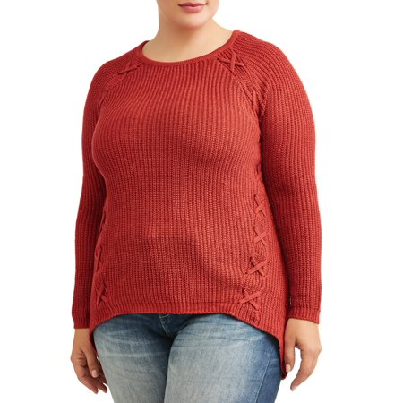 What's Next? Women's Plus Size Laced Pullover - Plus Size Women Clubwear