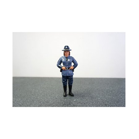 State Trooper Sharon Figure For 1:18 Diecast Model Cars by American Diorama - image 1 de 1