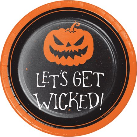 Idee Dessert Halloween (Get Wicked Halloween Dessert Plates, 24)