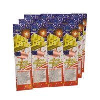 384pc #10 Colored Sparklers, Red - Green - Blue  4 Packages with 12 Boxes of 8 Sparklers