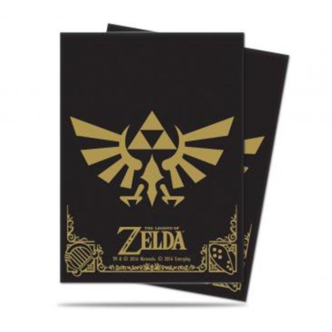 Ultra Pro ULP85205 The Legend of Zelda Black & Gold Deck Protector Sleeves, 65 Count - image 1 de 1