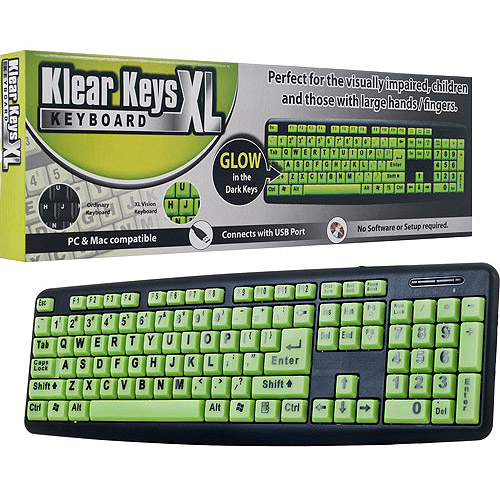 Klear Keys Xl Glow In Dark And Spill-res