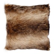 A & B Home Faux Fur Brown and Cream 20-Inch Pillow