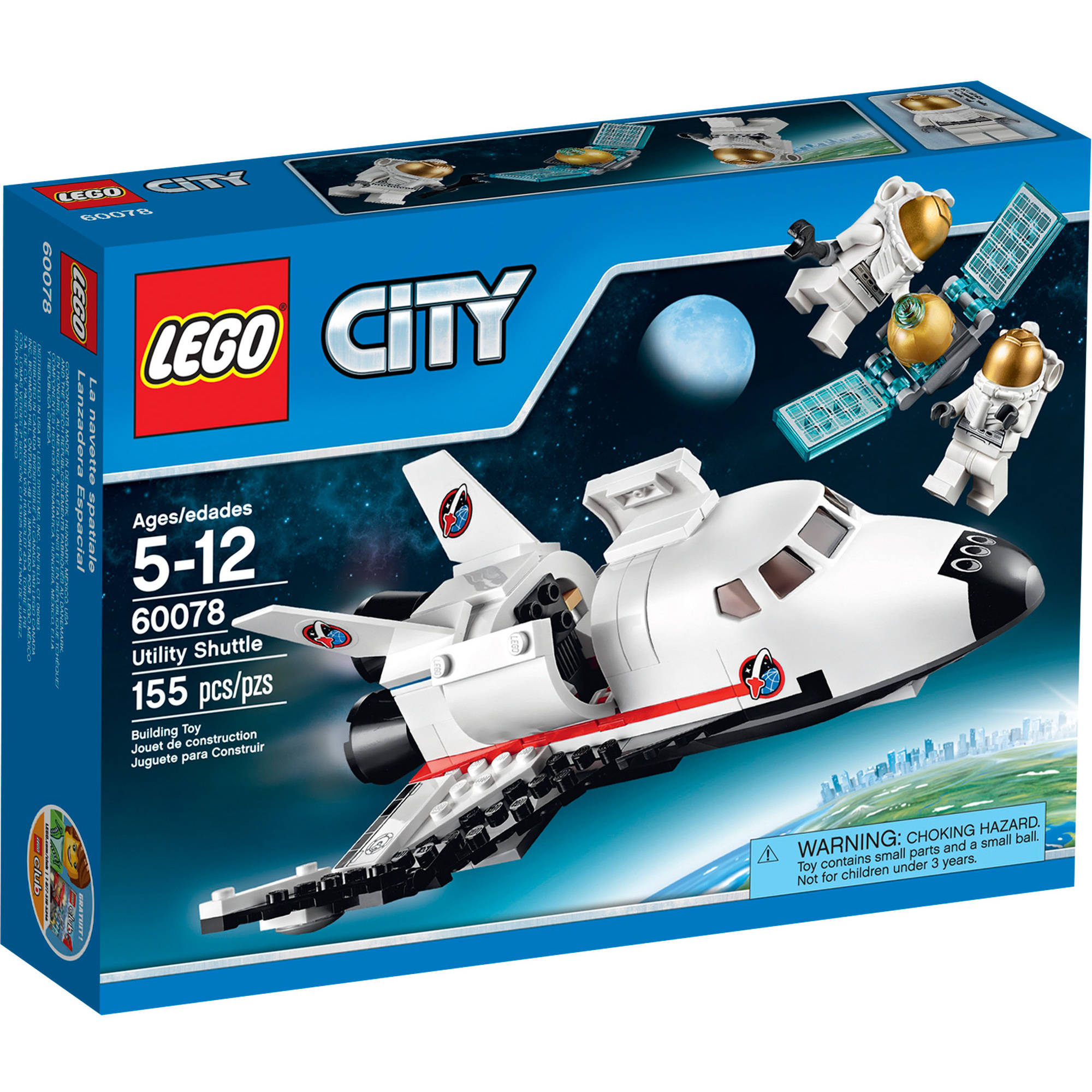 Lego City Space Port 60078 Utility Shuttle Building Kit by LEGO Systems, Inc.