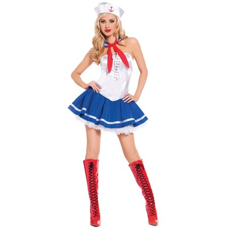 Baby Blue Sailor Girl Sexy Sails Away Honey Womens Halloween Party Costume (Party City Baby Costumes For Halloween)