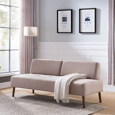 Attlilia Small Armless Sofa, Midcentury Modern, Dark Tobacco ...