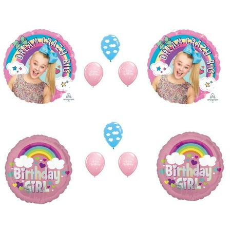 JOJO SIWA BIRTHDAY PARTY Balloons Decorations Supplies Bow Rainbow Girl Dreams (Birthday Girl Party Supplies)