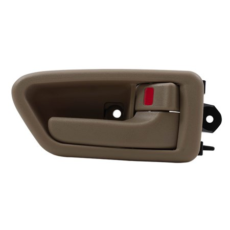 BROCK Inside Interior Door Handle w/ Bezel Beige Passenger Front or Rear Replacement for 97-01 Toyota Camry TO1353167