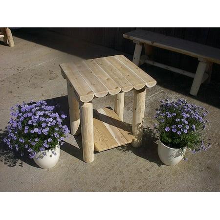 Furniture Barn USA™ White Cedar Log Two Tier End