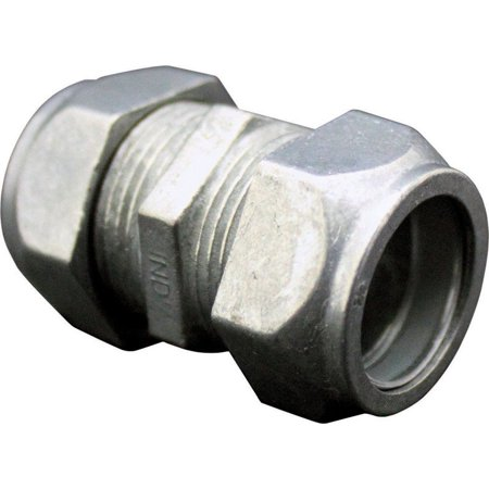 Sigma Electric ProConnex  1/2 in. Dia. Zinc-Plated Steel  Compression Coupling  For EMT 1 - Steel Compression Coupling