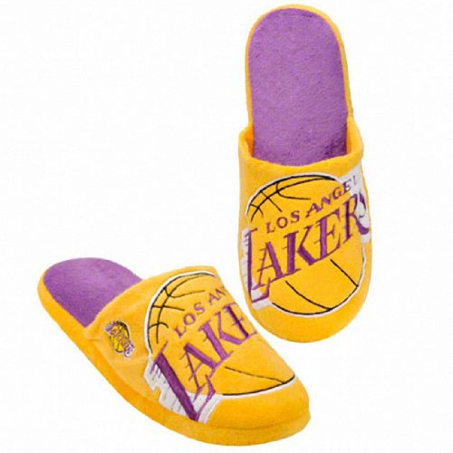 Los Angeles Lakers Slippers Super Soft NBA Licensed XL