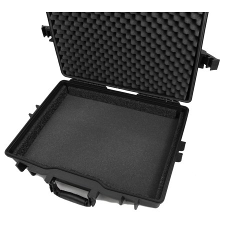CASEMATIX Waterproof Hard Case for USB Portable Monitors Fits One Portable AOC LCD USB Monitor 16-Inch or 17-Inch with Accessories – Rugged, Airtight AOC Travel Monitor