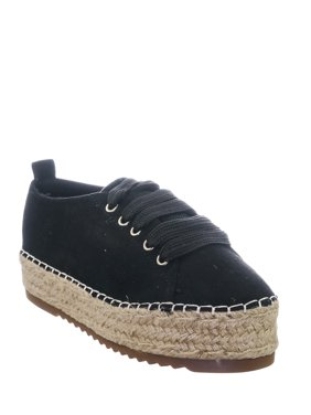 Farm78 by 7, Flatform Espadrilles Fashion Sneakers - Womens Laced Up Platforms