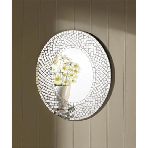 Zingz & Thingz 57071127 Mosaic Sparkle Oval Wall Mirror
